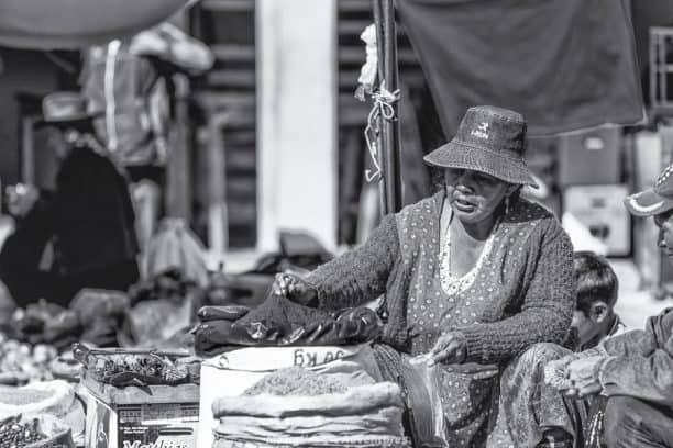 Tarabuco Sunday market - food stalls