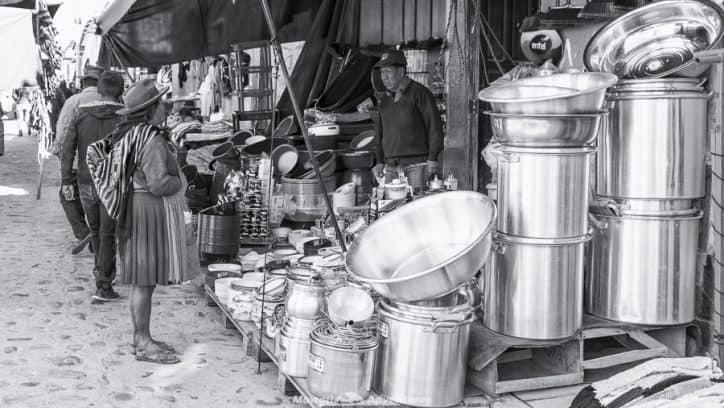 Tarabuco Sunday market - indigenous market