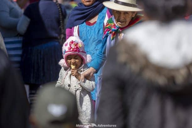 Tarabuco Sunday market - local customs