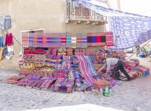 Tarabuco Sunday market - textile market