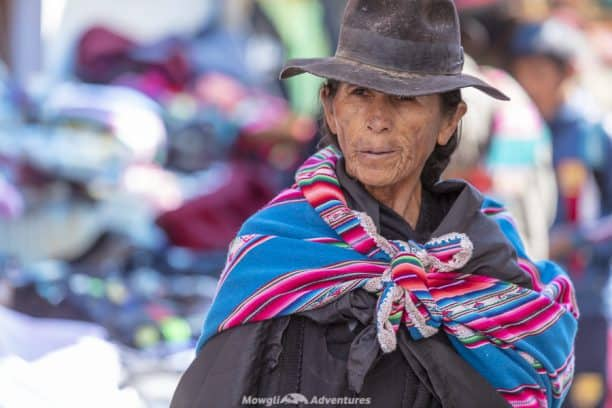 Tarabuco Sunday market - traditional hats
