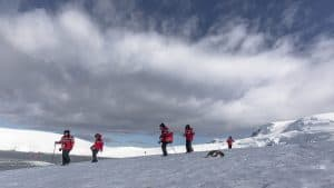 Antarctica on an expedition cruise - hiking in Antarctica