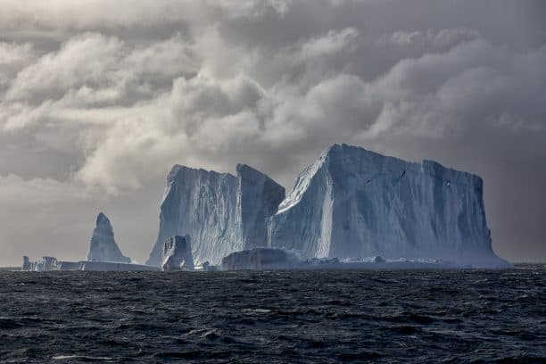 Antarctica on an expedition cruise - icebergs