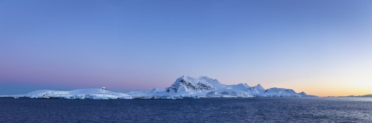Antarctica on an expedition cruise - sunrise