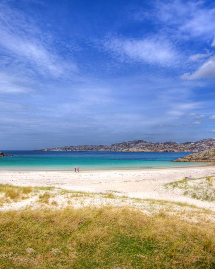 White sand beaches of west Scotlands