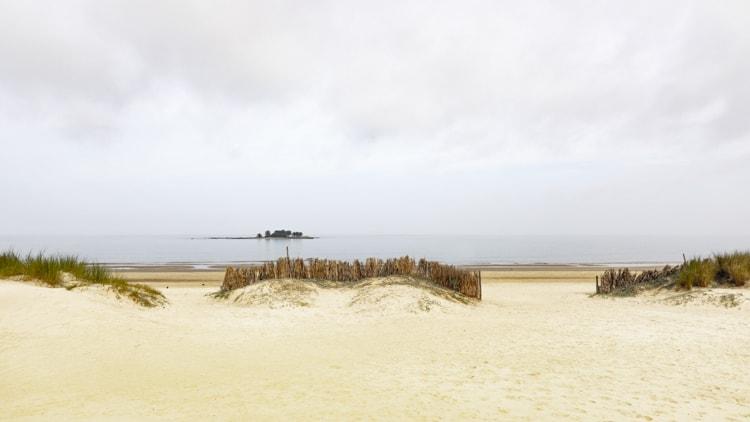 Sand dunes at Palya Malvín beach Montevideo Uruguay