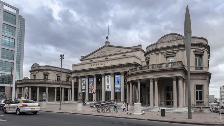 The Teatro Solis theatre in Montevideo, Uruguay