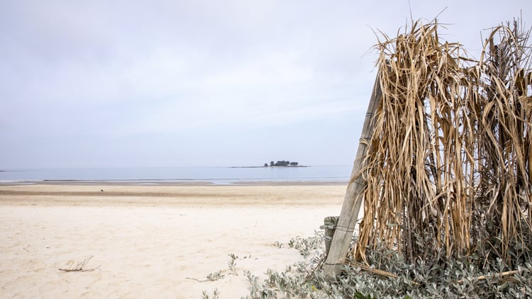 One of the many beaches in Montevideo, Uruguay