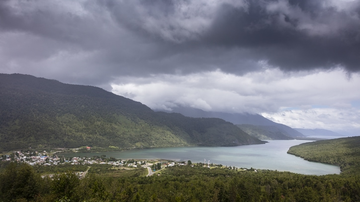 A view of Puyuhuapi on the Carretera Austral
