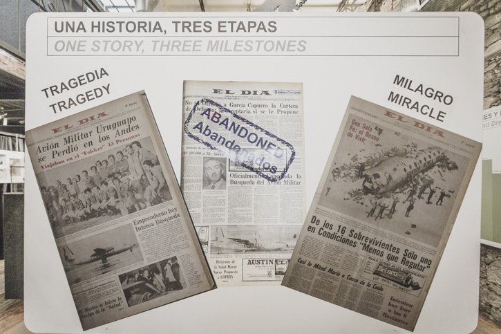 Newspaper articles about the plane crash, search and rescue