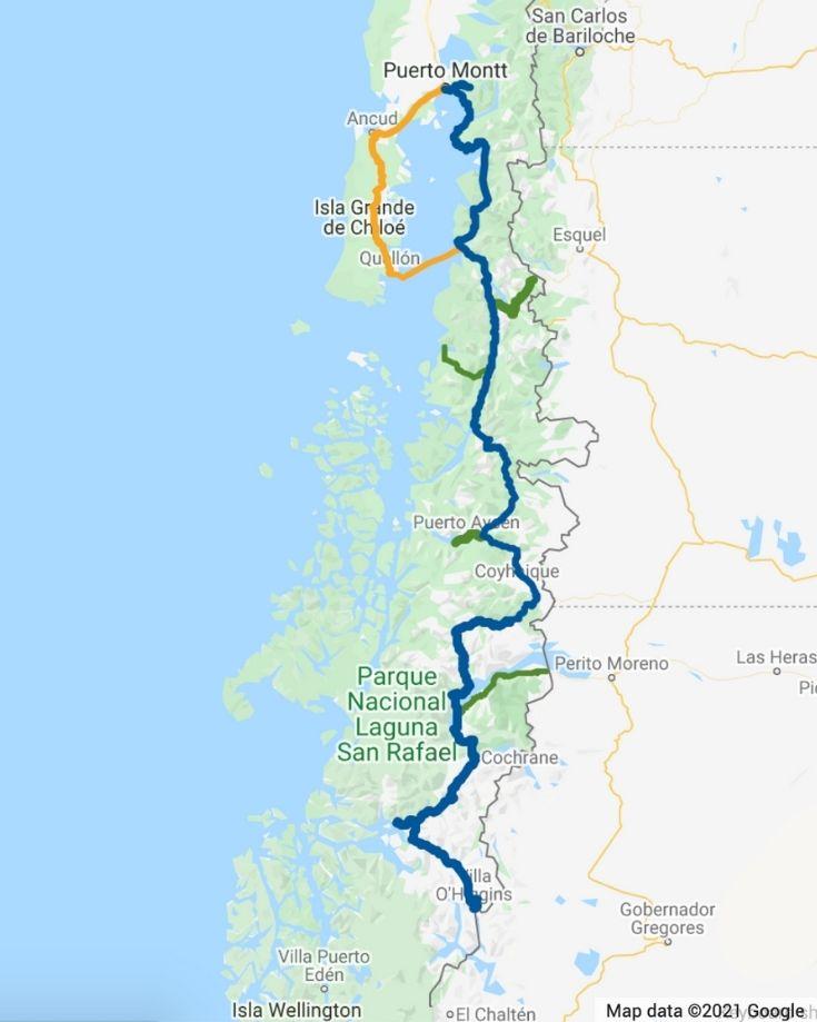 Carretera Austral Map