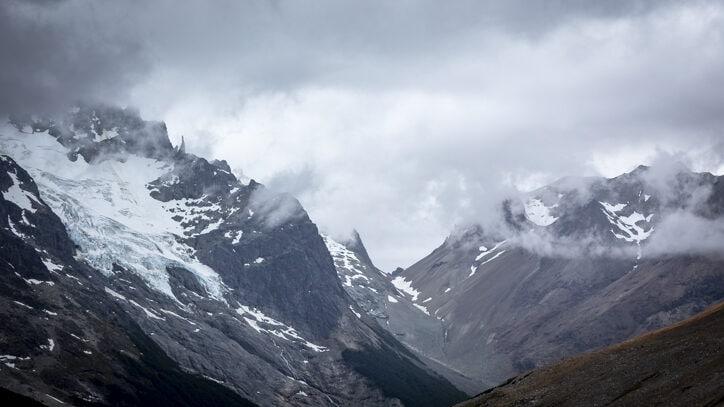 Glaciers on Cerro Castillo, Chile
