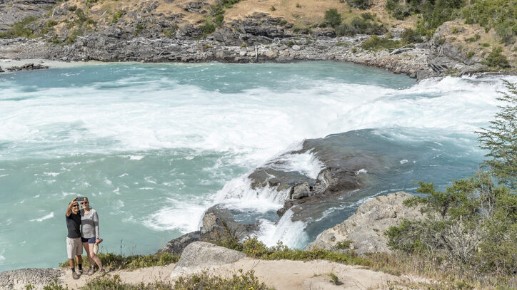 Confluence of the Rio Nef & Rio Baker on the Carretera Austral road trip