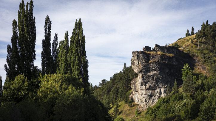 Piedra del Indio (Indian's Stone) near Coyhaique in Chilean Patagonia
