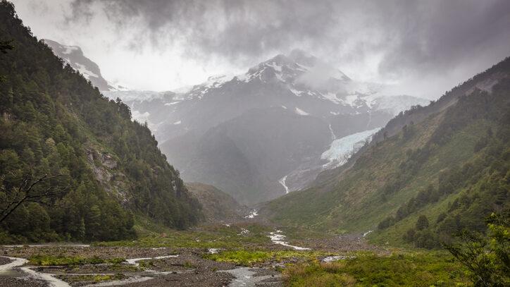 Yelcho Glacier on the Carretera Austral Chile