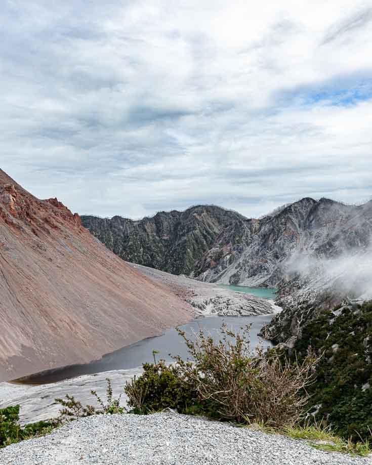 Hiking to the smoking summit of Chaiten Volcano
