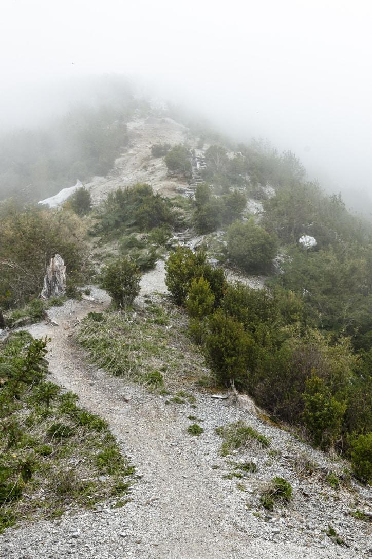Hiking trails at Chaiten Volcano