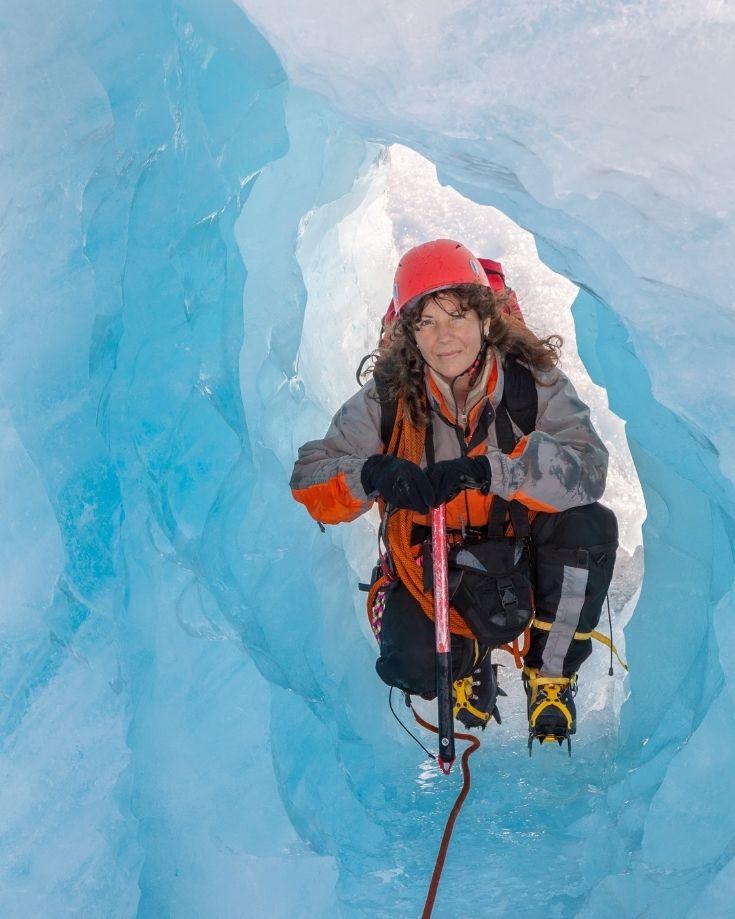ice trekking on exploradores glacier