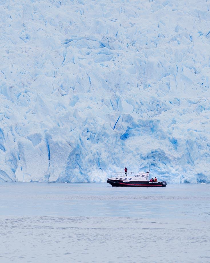 a boat cruise to san rafael glacier
