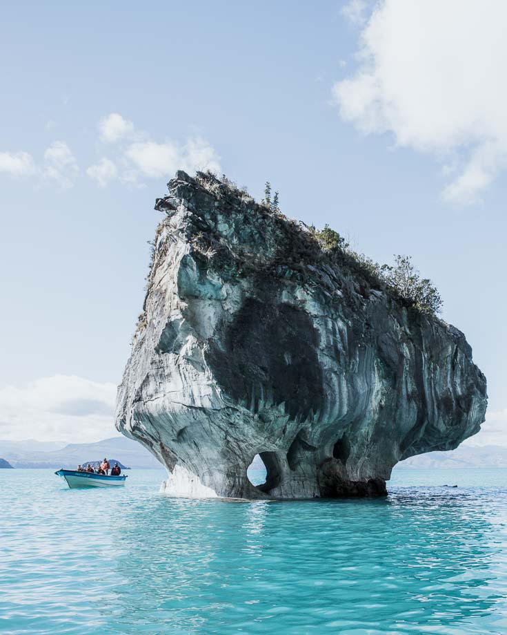 A boat trip around Marble Caves Chile