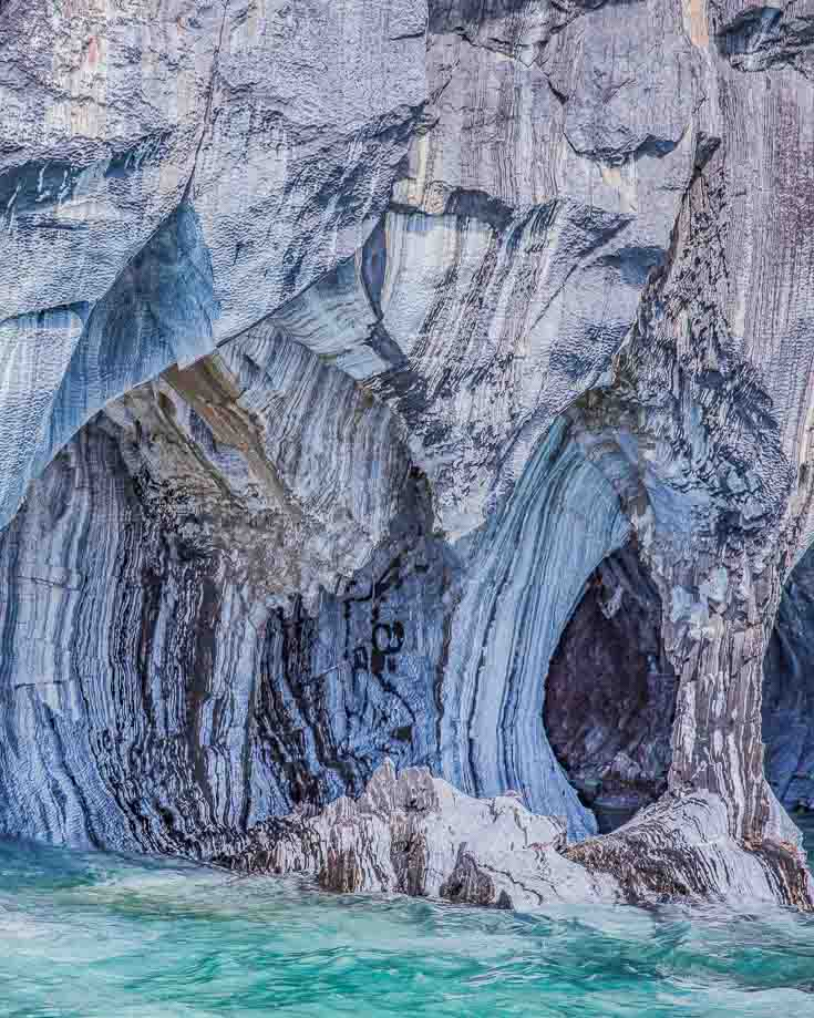 marble column supports at marble caves puerto sanchez