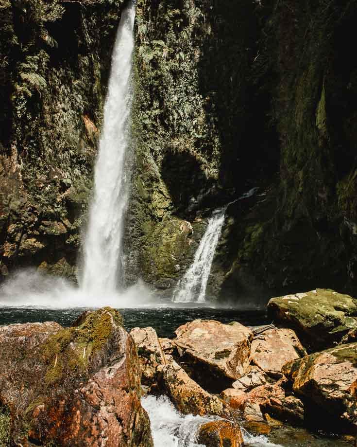 waterfalls in Pumalin Park