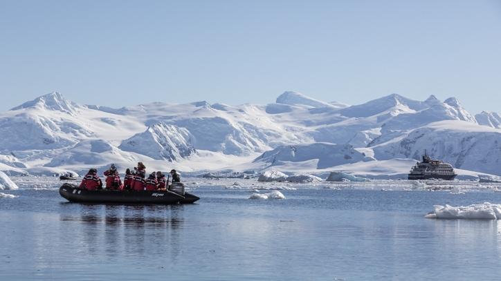 zodiac cruises on a trip to Antarctica