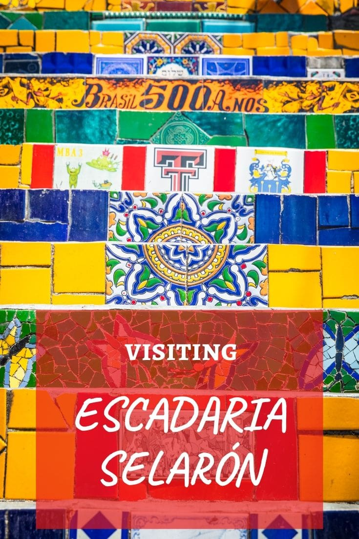 Escadaria Selaron or the Selaron Steps, is one of the top attractions & a must-do activity while in Rio de Janeiro, Brazil. Our travel guide covers everything you need to know before visiting one of the world's most colourful and popular staircases. #RioDeJaneiro #SouthAmerica #TravelGuide #Brazil