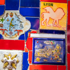 Tiles from 60 countries on the Selaron steps