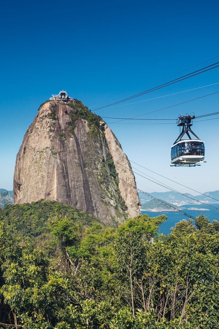 The cable car to Sugar Loaf mountain