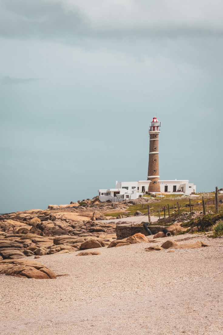 The iconic symbol of Cabo Polonio - the lighthouse on the beach