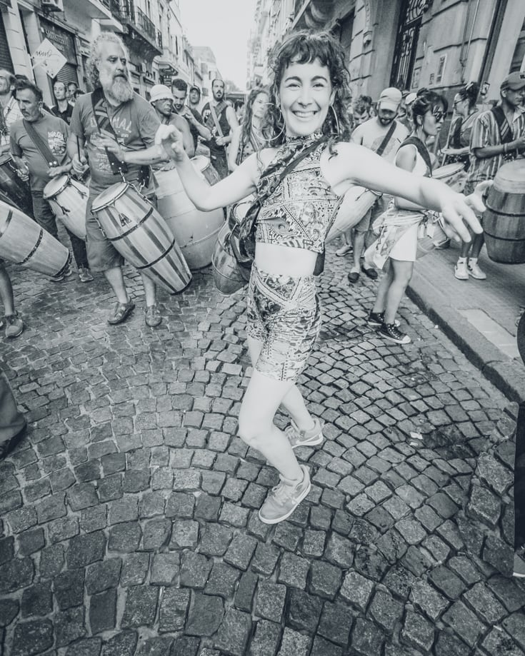 Join in on a Candombe parade