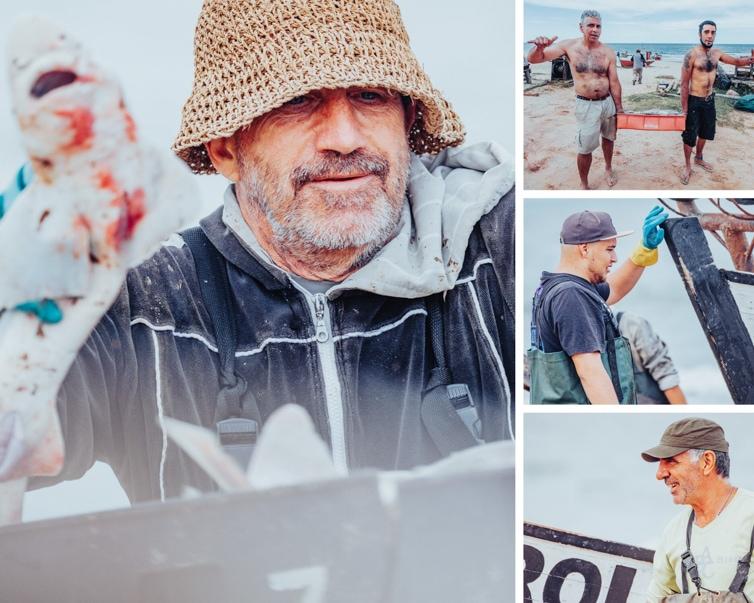 Some of the fishermen working on Playa de los Pescadores in Punta del Diablo, Uruguay