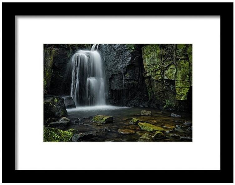 framed photo of lumsdale falls for sale
