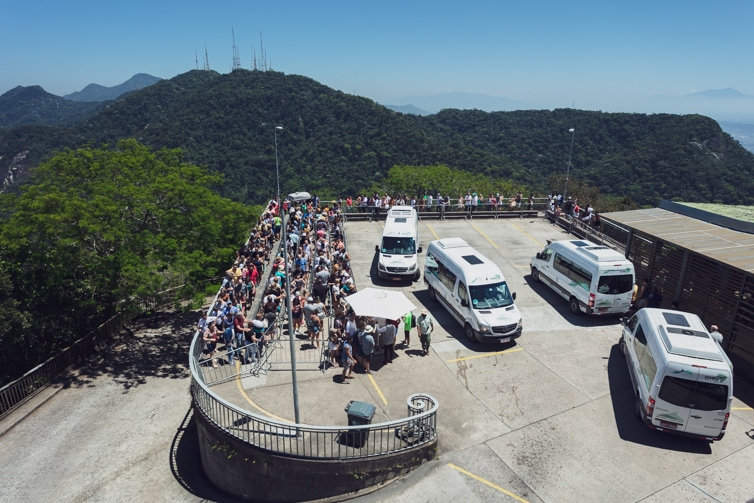 Shuttle busees to the base of Christ the Redeemer Brazil