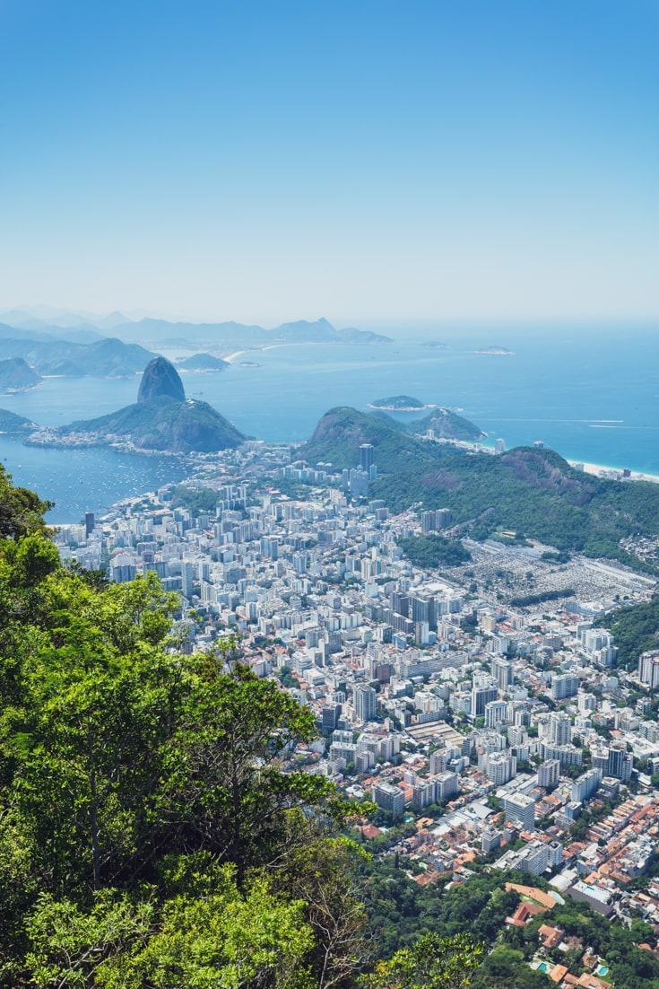 View of Sugarloaf Mountain from Christ the Redeemer