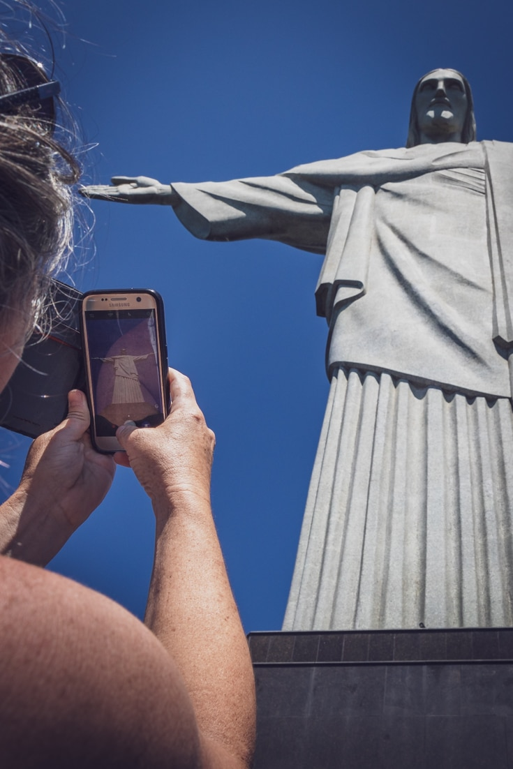 taking selfies at theJesus statue in Rio.jpg