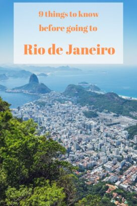 things to know before going to Rio de Janeiro