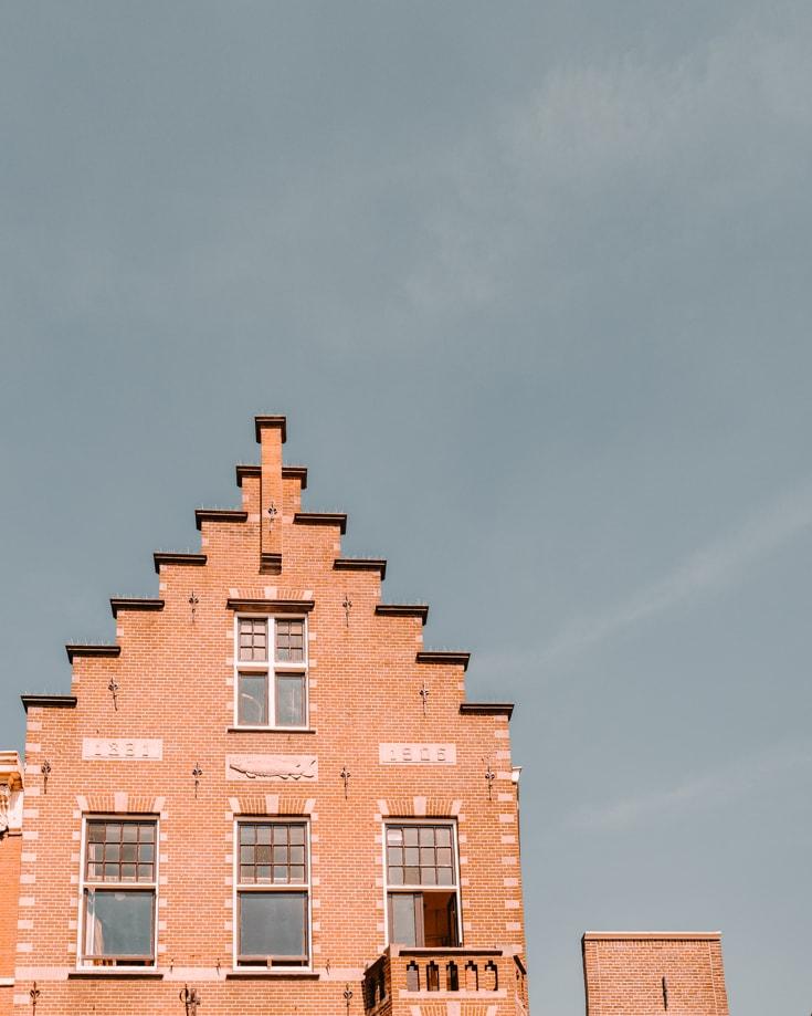 Typical Dutch building near Amsterdam