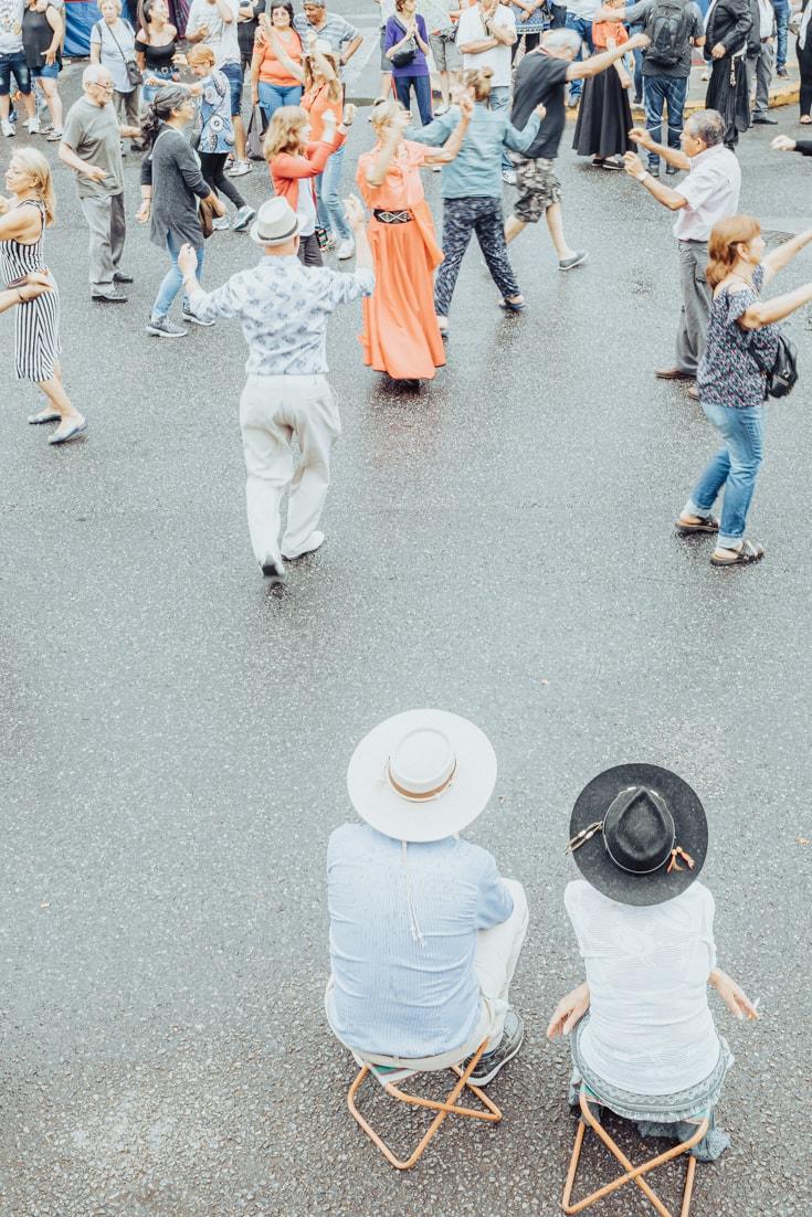 Folkloric dancing at Feris de Mataderos Buenos Aires