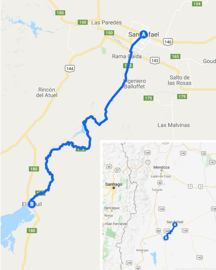 Map of Valle Grande Mendoza