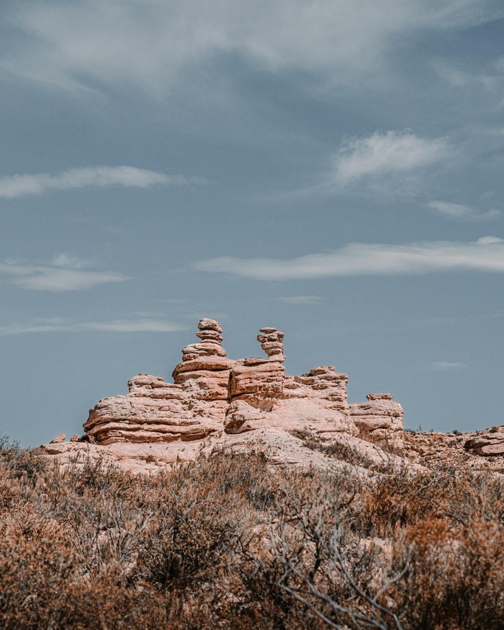 Rock formations in Valle Grande Mendoza