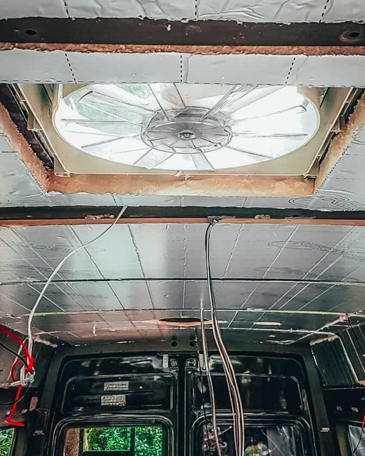 Sprinter Campervan insulation and ventilation