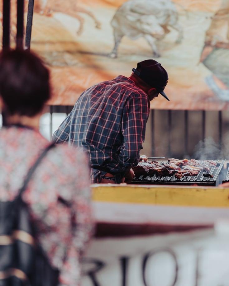 Street food at Mataderos fair