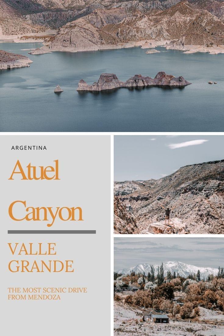 Valle Grande Mendoza Argentina driving Atuel Canyon