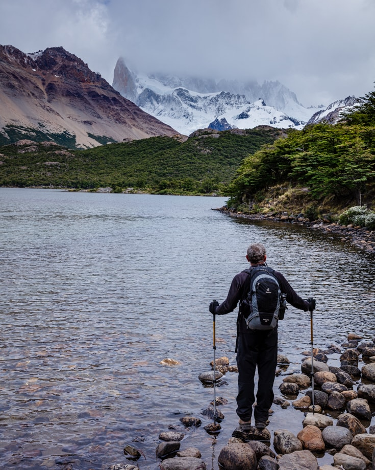 Hiking in a less popular hiking trail in mid summer with no crowds in Torres del Paine