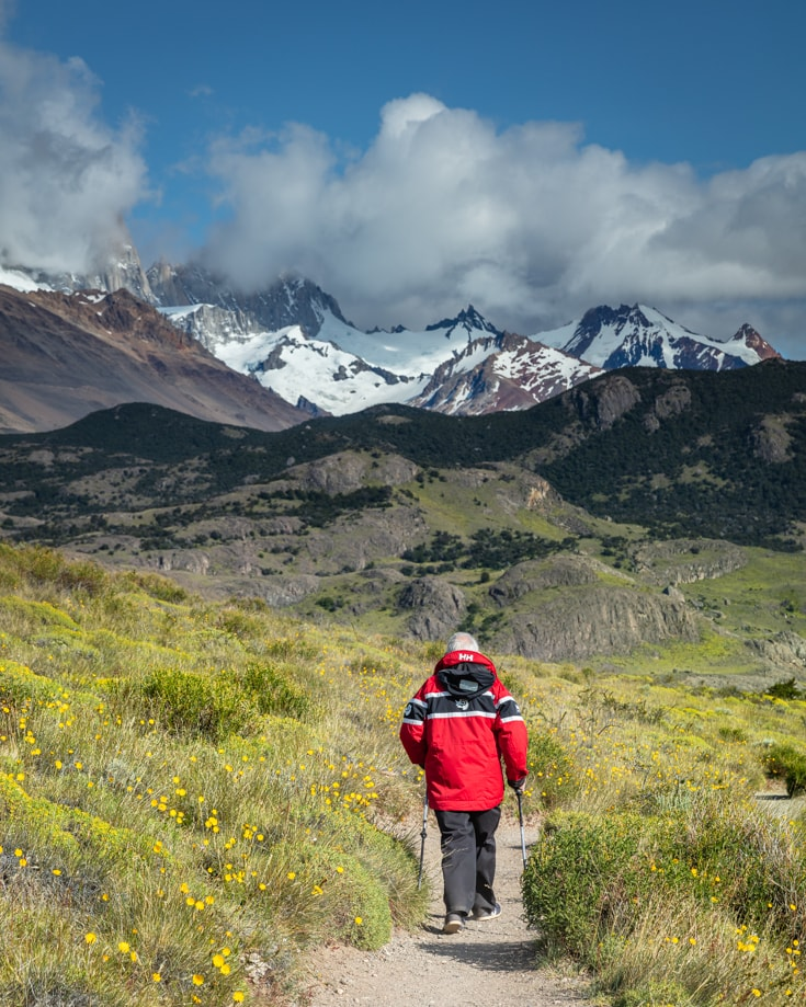 An easy hike on one of the many day tours in El Chalten