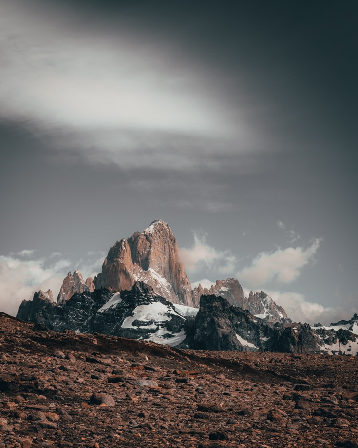 Mount Fitz Roy Peaks from Cerro Torre guided hike