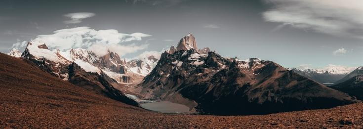 panoramic views from Cerro Torer Mirador El Chalten Patagonia