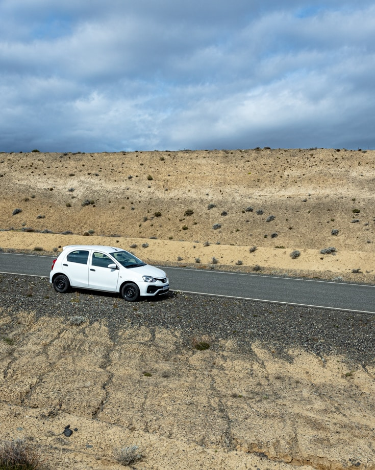 Getting around Argentina in a hire car in the Patagonia Steppe